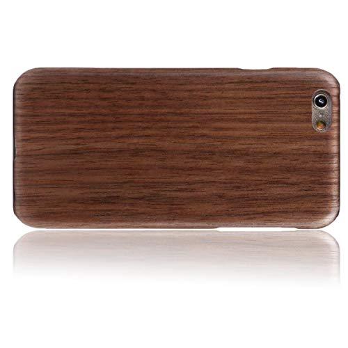 WOLA für iPhone 6 / 6s Hülle Holz AIR Handyhülle aus Aramid & Holz - Bambus Walnuss