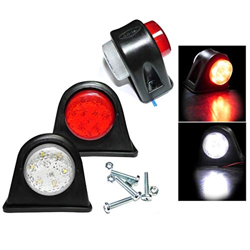 Starmood 2Pcs 12V LED Trailer Truck Side Marker Lights Outline Stalk Lamp 20CM