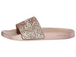 Rose Gold Fraida Slide Sandal