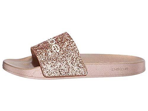 Bebe Women's FRAIDA Slide Sandal, rose gold, 6 Medium US