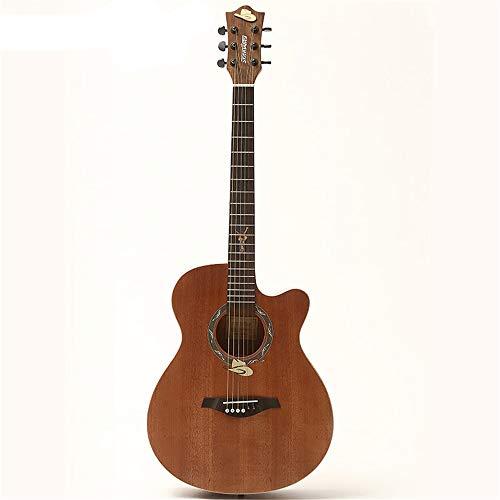 yaunli Guitarra acústica de 101,6 cm (101,6 cm), diseño profesional de guitarra folk