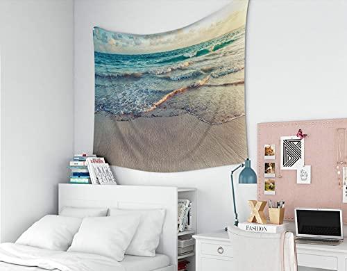 Tapiz para mamá, tapices Deacutecor, sala de estar, dormitorio para el hogar, interior, impreso para el paisaje del amanecer en la costa del océano Atlántico, República Dominicana, Punta Cana, foto en
