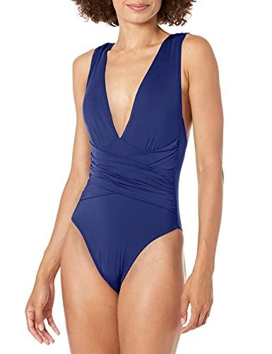 트리나 투르크 여성 플런지 랩 프론트 원피스 수영복