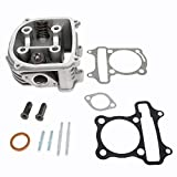 Glixal ATGT-018 GY6 125cc to 150cc 57.4mm Cylinder Head Asyy with Valves set for 152QMI 157QMJ Scooter Moped ATV Go Kart Quad Engine (Non EGR Type)