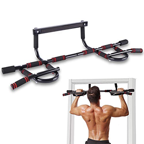 WEEDABEST Pull Up Bar for Doorway No Screws Chin Up Bar Door Frame for Home, Multi Grip