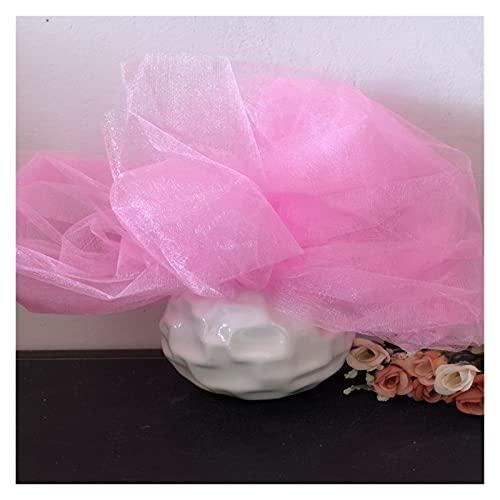 LOOEST Tela de Tul, 10MX48CM Orgena Tulle Roll Tabride Tutu Tutu Sheer Crystal Tulle para casa Silla de Boda Decoración Baby Shower DIY Camisa para decoración de Fiesta