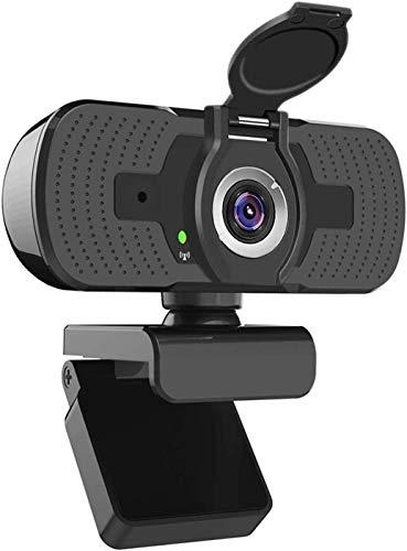 Ywcking Full Hd Webcam 1080p Videokamera mit Webcam AbdeckungUSB Webcam mit Eingebautes MikrofonMini Plug and Play fur DesktopNotebookideal fur KonferenzenLive Ubertragungen und Videoanruf