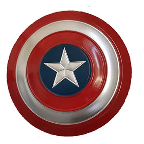 Escudo de Vestuario de Capitn Amrica,Avengers Rplica de Marvel Prop Accesorios Para Juegos de Rol de Pelculas 47Cm,1: 1 Apoyos de Pelcula Escudo de Capitn Amrica Para Nio D,47CM