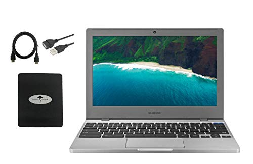 "Samsung Chromebook 4 11.6"" Slim Light Thin Laptop for Business and Student, Intel Celeron N4000, 4GB RAM, 32GB eMMC Gigabit, Wi-Fi, Chrome OS (GM Accessories)"