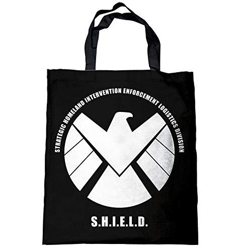 Agents of Shield – Bolso bandolera – Bolsa de yute – Logo