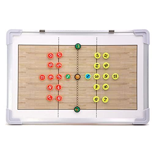 QQAA Magnetische Trainer Volleyball Brett, Volleyball Taktik Board, Handheld/Wandmontage, mit 2-in-1-Trockenlösch-Markierungsstift und Einem Satz Magnet-Schachfiguren