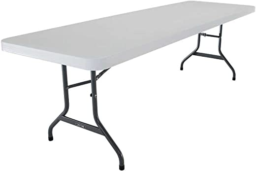 B0002U3V9U✅Lifetime 22984 Folding Utility Table, 8 Feet, Almond