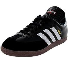 adidas Men's Samba Classic Running Shoe, WhiteBlackWhite