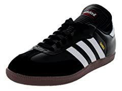Full grain leather upper with suede overlays offer support and protection Non-marking gum rubber outsole for excellent grip on all indoor surfaces Embossed EVA midsole for superior comfort