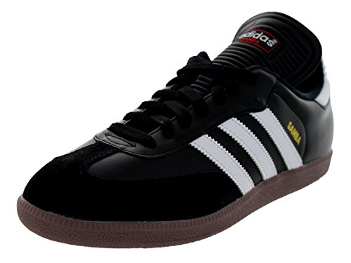adidas Men's Samba Classic Soccer Shoe,Black/Running White,11.5 M US