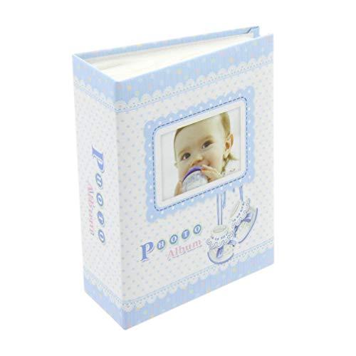 Fotoalbum Baby Einsteckalbum Babyalbum Pocket Mini blau 3Le-9 für 100 Fotos 9x13 cm