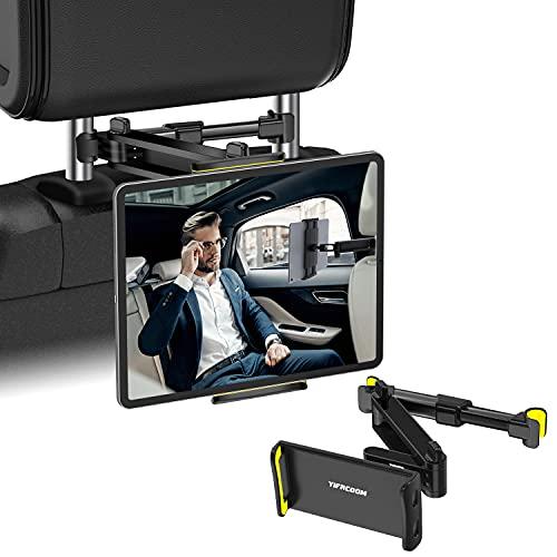 YIFACOOM Soporte Tablet Coche, Soporte Reposacabezas Automóvil Telescópico Universal, Soporte Tablet de Coche Giratorio 360°, Compatible con Móvil, iPad und Otros Tableta de 4-12,9 Pulgadas