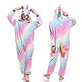 Handaxian Pijamas Damas Adulto Onesies de Animales Pijamas de Invierno Pijamas Pijamas de Franela Set Rainbow Tennis M
