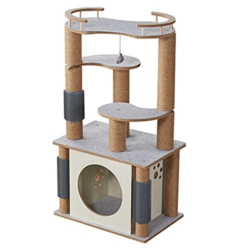 kjhgkj Cat Hammock Cat Cat Stand E Cornice da Arrampicata Scale per Gatti in Quattro Fasi con Graffiatura Sisal Arrampicata A Dormire E Giocare A Reclinabili Arredamento Gatto Appollaiato