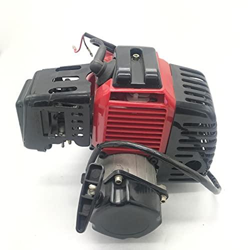ZHANGYY Schnellwechsel für 49CC KOMPLETT Motor 2 TAKT SUPER Pocket Bike ATV ELEKTROSTART ROT M EN04R