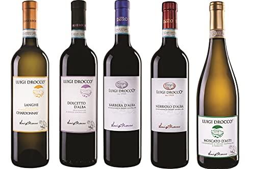 vino DOLCETTO D'ALBA BARBERA D'ALBA NEBBIOLO D'ALBA MOSCATO D'ASTI e LANGHE CHARDONNAY DOC