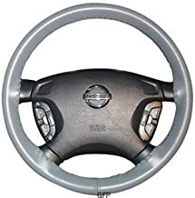 product image for Leather Steering Wheel Cover : 14 1/2 X 4 1/8-01-black : 2008 - 2009 : Infiniti G : Wheelskins Leather Steering Wheel Cover : Black