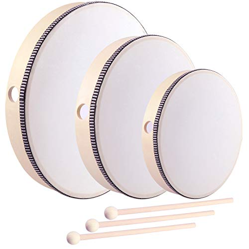 HiGift 3 Pack Hand Drums Kids Pe...