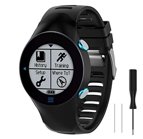 WEINISITE Cinturino per Garmin Forerunner 610,Morbido Silicone Regolabile Braccialetto per Garmin Forerunner 610 Smart Watch (#1)