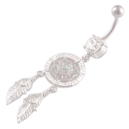 bodyjewelry st bl CR-535 clear 1.6x10-Weiß