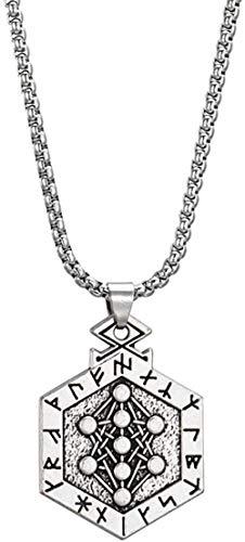 niuziyanfa Co.,ltd Collares Pendientes Joyería tibetana Sobrenatural para Hombres Amuleto y talismán Vintage 50cm