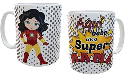 SAQUITOMAGICO Taza Aqui Bebe una Super mamá!!!! (ironwoman)