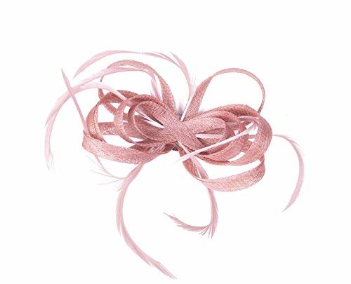 Pritties Accessories Bibi à boucle de couleur naturelle avec plumes Fixée sur pince broche