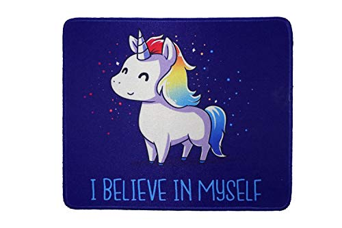 12 x 10 inches Funny Beautiful Unicorn Gaming Mouse Pad Custom Mousepad Believe in Myself mat