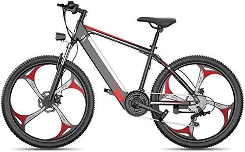 Bicicleta Eléctrica Plegable Bicicleta eléctrica de nieve, bicicleta eléctrica de montaña 400W 26 '' Fat Newee Electric Bicycle Mountain E-Bike Suspensión completa para adultos, 27 velocidades de alea