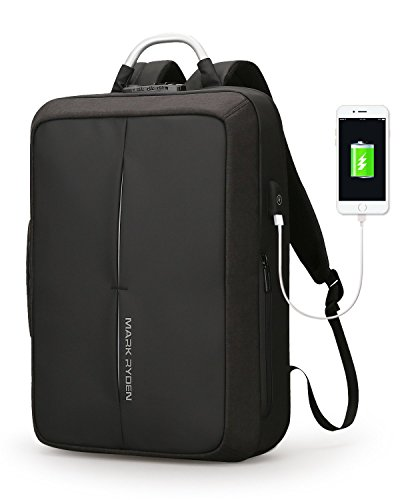 Mark Ryden Anti-Theft Cosmo Series Water Resistant Laptop Backpack with USB Charging Port Fits 15.6-Inch Laptop + Numeric Lock