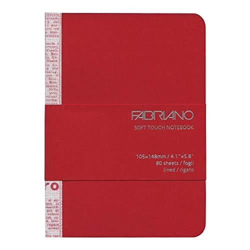 Fabriano Taccuino Soft Touch Notebook A6 Colori Assortiti