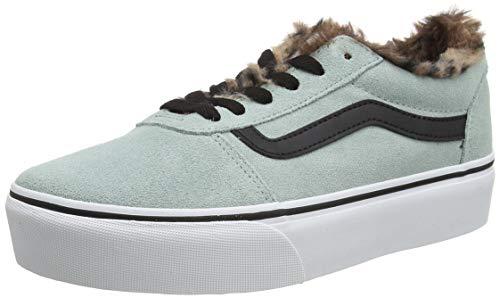 Vans Ward Platform Suede, Sneaker Donna, Animal Blue Surf Bianco, 35 EU