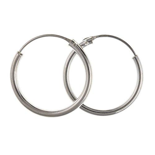 Orecchini a cerchio, da 18 mm, rotondi, lucidi, per donne, adolescenti, ragazze, in argento Sterling 925, spessore 1 mm, in confezione regalo inclusa