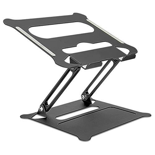 Soporte para ordenador portátil, elevador ajustable con silicona y ganchos protectores, soporte ergonómico de aluminio compatible con...