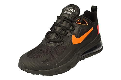 Nike Air Max 270 React Herren Running Trainers CV1641 Sneakers Schuhe (UK 10 US 11 EU 45, Black Magma orange 001)