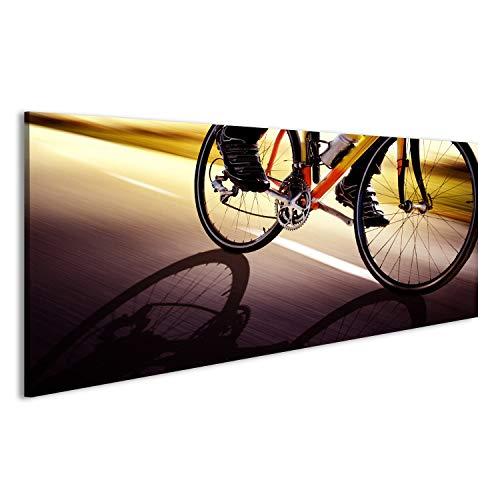 bilderfelix® Bild auf Leinwand Rennrad Wandbild, Poster, Leinwandbild KNW