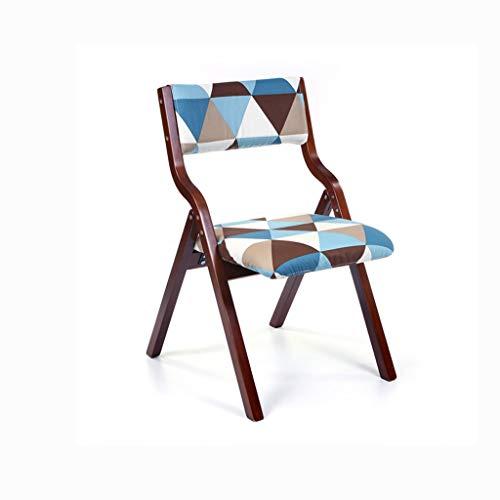 LJZslhei Stuhl Leisure Home Modern minimalistisch Esszimmer Stuhl Schreibtisch Stuhl Rücken Stuhl Klappstuhl (Color : Brown)