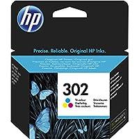 HP 302 Tri-color Original Ink Cartridge 4ml 165páginas Cian, Amarillo cartucho de tinta - Cartucho de tinta para impresoras (Cian, Magenta, Amarillo, Deskjet 1110, Deskjet 2130 AiO, Deskjet 2132 AiO, Deskjet 2134 AiO, Deskjet 3630 AiO, Officejet..., Estándar, 4 ml, 165 páginas, Inyección de tinta)