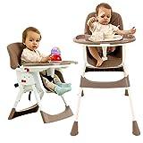 Chaise Haute Bébé Chaise Haute Siège D'appoint Réglable Avec Table de Salle à Manger PU Chaises de Sécurité Pour Bébés