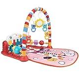Babyspielmatte Babys Laufstallfunktion mit Musik Licht Kick Play Mat, Baby Fitness Spielmatte, für...