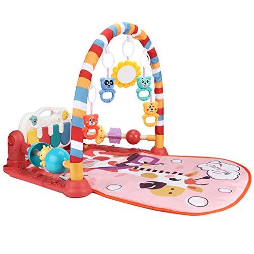 Alfombra De Juego Para Bebé Con Música Y Luces Marco Protectora De Doble Cara Mejorada Gimnasio De Actividades De Piano A Pedal