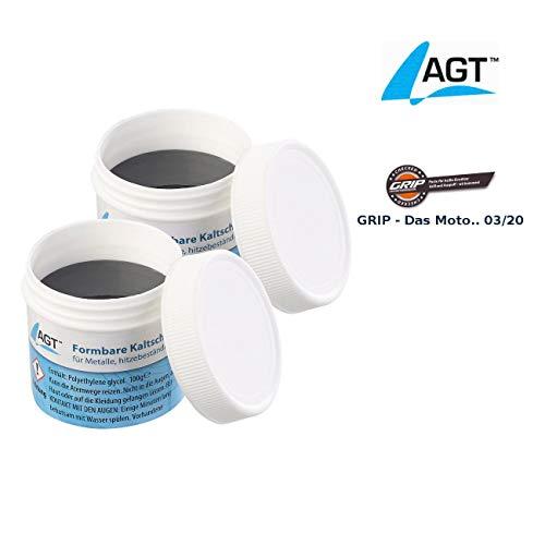 AGT Metallkleber: Kaltschweißmasse für Metalle, hitzebeständig bis 1.100 °C, 200 g (Flüssiges Metall)