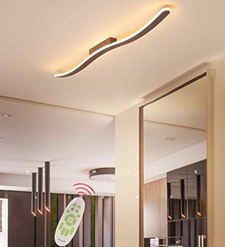Lámpara de diseño moderno LED de techo de luz regulable Color/brillo con mando a distancia, lámpara de sala de estar, lámpara de dormitorio, marco de metal acrílico, 3000 K - 6500 K, 80 cm