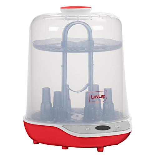 Luvlap Delight Electric Steam Sterilizer for 6 Feeding Bottles with LED Display, Fast sterilizer for Feeding Bottles (White)