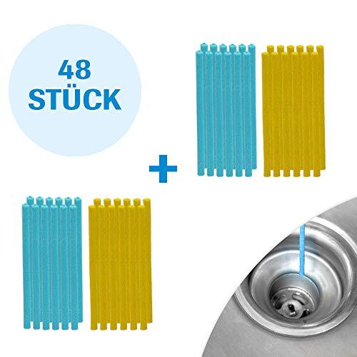 Mediashop Sani Sticks 48 Stück sani Sticks Abfluss ✓ Duft Zitrone Duftneutral ✓ Drain Cleaner Enzymreiniger ✓ Abflussreiniger ✓ Abflussrohr rein clean Rohrreiniger | Das Original aus dem TV